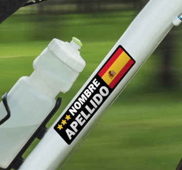 Customize your own flag and text in our original bike frame sticker made from high high quality vinyl. t is easy to apply and self adhesive.