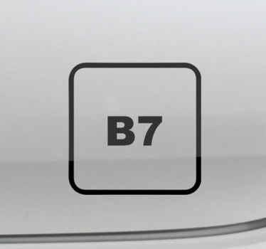 Decorate the surface of your vehicle with an iconic sign label decal for diesel B7. It is available in different size and colour oprions.
