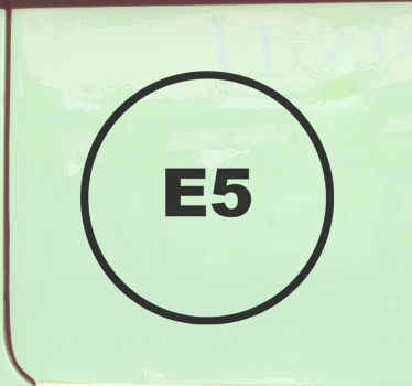 A  diesel E5 iconic car vinyl sticker. It is easy to apply ,self adhesive and available in any required size and in different colour options.