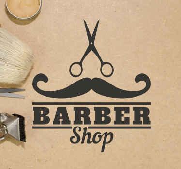 Vinilo peluquería con el que podrás señalizar tu negocio de barbero de forma original para llamar la atención. Alta calidad ¡Envío a domicilio!