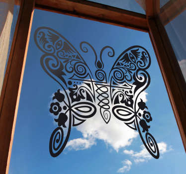 Decals - Abstract illustration of a butterfly. Distinctive design ideal for decorating your windows. Available in various sizes.