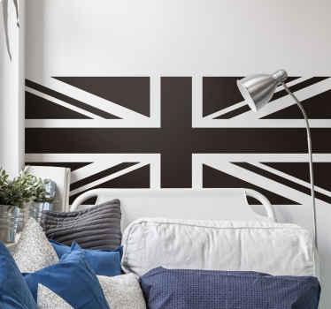 選択したスペースを飾る幻想的なイギリスの旗の壁のステッカー。家庭、オフィス、ビジネスの場所のための装飾的なアイデア。