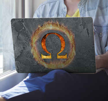 Laptop skin vinyl decal design of god of war  for video game lover and people crazy about the flagship. It is available in any laptop size model.
