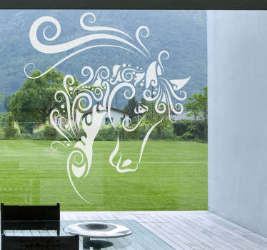 抽象马窗口贴纸
