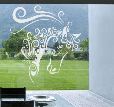 абстрактная наклейка окна лошади