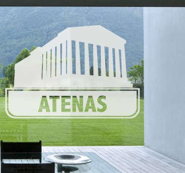 Vinilo decorativo ciudades Atenas