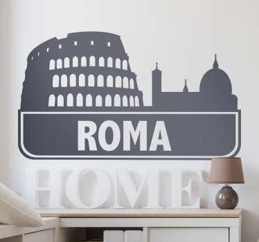 Vinil decorativo cidade Roma