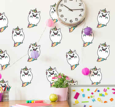 A funky sets of fairy tale wall sticker for kids bedroom to decorate the bedroom space of a child with a cheerful and happy mood.
