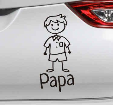 小さな子供のデザインの車の窓のステッカーに名前をパーソナライズします。粘着性があり、カスタマイズ可能な色とサイズで入手できます。