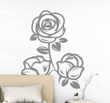 A simple but pretty decorative flower wall sticker to improve your home space with nice touch. It is self adhesive and comes in customizable colours.