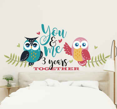Buy our original decorative birds headboard wall sticker with your own customized text to share happy moment with your love one and partner.