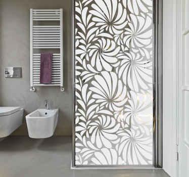 Un incroyable sticker paroi de douche fait avec une conception de feuille ornementale texturée avec des options de couleur personnalisables. Il est auto-adhésif.