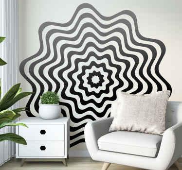 Vinilo pared de efecto visual con remolino perfecto para encontrar un punto de fuga en tu hogar y relajarte. Alta calidad ¡Envío a domicilio!