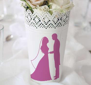 Sticker decorativo coppia di sposi