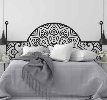 An ornamental headboard wall decal for a bedroom space with typical style originated from Arabian. It is available in customisable colours and sizes.