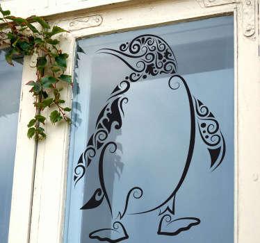 Vinilo decorativo pingüino abstracto