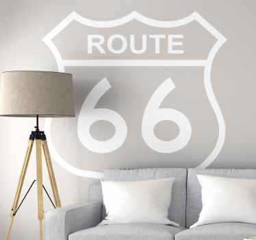 A simple decorative city wall sticker design  of route 66 for your home and office space. It is available in different size and colour options.