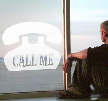 Vinilo decorativo teléfono call me