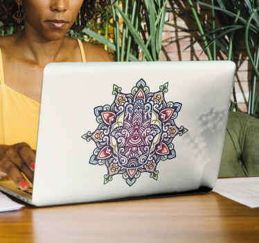 A decorative ornamental laptop vinyl decal of a traditional design symbolic to Arabs. It is easy to apply and available in any size required.