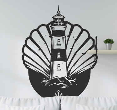 Decorative nautical wall decal decoration for a space. Enhance your home space or office with our original design with colour and size customization.