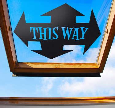 This Way Sign Sticker