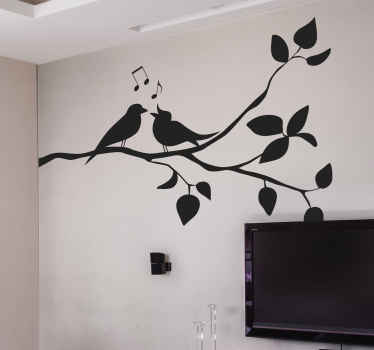 Tree branch with birds wall sticker for home and office decoration. It is available in different colours and size options.