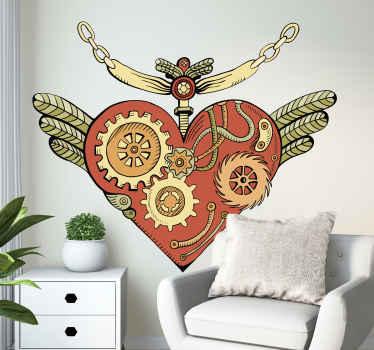 Vinilo de amor con dibujo de corazón para crear un espacio encantador con un diseño étnico que te encantará ¡Envío a domicilio!