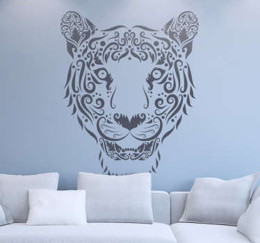 Decals - Abstract illustration of a tiger. Distinctive design ideal for decorating your windows. Available in various sizes and colours.
