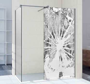 Shower  screen vinyl decal for your bathroom space with an original visual effect design of  broken surface. The product is available in any size.