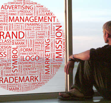Business Concepts Text Wall Sticker