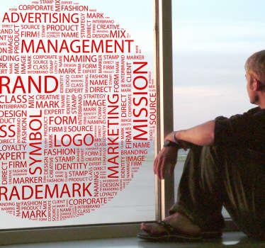 Sticker texte concepts cercle