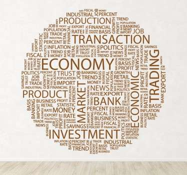 Business Finance Concept Text Wall Sticker