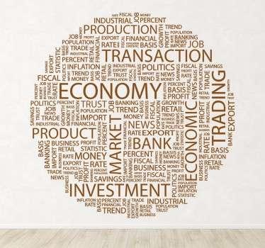Sticker decorativo business e finanza