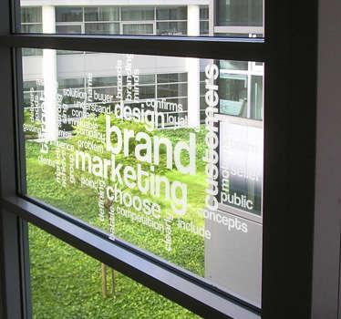 Marketing Concept Sticker
