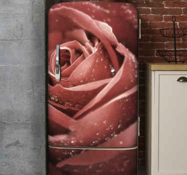 Decorate your fridge space with glam with our original ornamental rose flower fridge sticker. It is customisable to fit to any required dimesion.