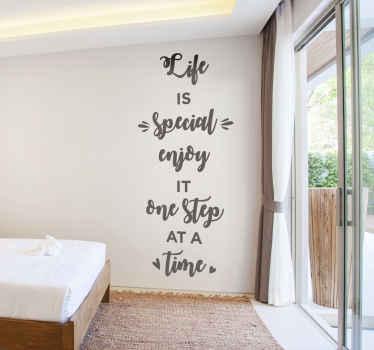 Vinilo pared frases motivadoras hogar para agregar un toque encantador y atractivo a su casa. Elige el tamaño y color ¡Envío a domicilio!