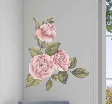 Sticker fleurs afin d'apporter un peu de douceur à votre maison. Cette décoration murale est colorée et sera la décoration parfaite pour n'importe quelle pièce de votre maison.