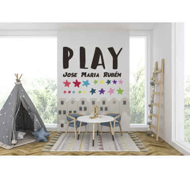 Decorate the space of your kid with our original play space custom wall sticker. It is available in different size options.