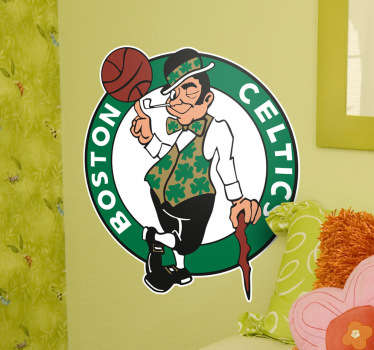 Geweldige muursticker van de Boston Celtics! Bent u een fan van Basketbal? Dan kent u vast de Bolton Celtics!