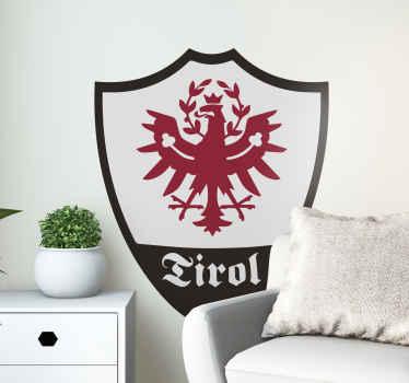 Zeichen Aufkleber vom Tirol Wappen, um jede flache Oberfläche der Wahl zu dekorieren. Es ist in verschiedenen Größen erhältlich.
