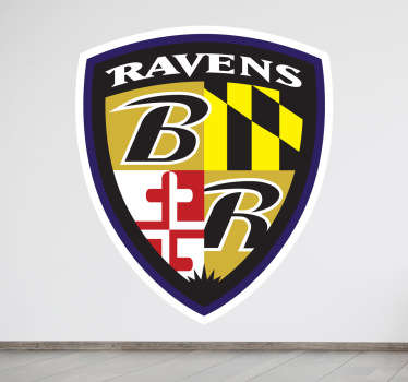 Baltimore Ravens Shield Wall Sticker