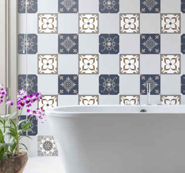 Beautiful flower tile sticker to beautify a kitchen space. A decorative ornamental tile decal of high quality vinyl. It is easy to apply .