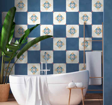 Buy our original bathroom tile decal with flower pattern design. It is easy to apply and can be cleaned without problem. Available in any size.