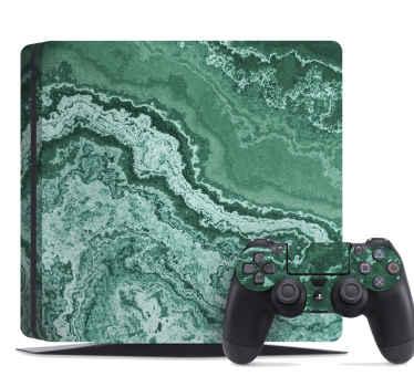 緑の大理石のテクスチャを持つ装飾的なps4ビニールステッカーデザイン。塗布が簡単で、表面にしっかりと滑らかに貼り付きます。