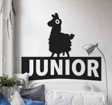 Vinilo pared juvenil del videojuego quincena con nombre para que decores tu cuarto de forma personalizada ¡Envío a domicilio!
