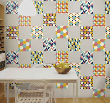 Lovely colorful patterned decorative tole sticker for your kitchen space. It is easy to apply and available in any required size.