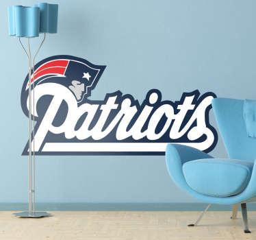 New England Patriots, adhesivo del equipo de fútbol americano con sede en Massachusetts. Elige esta pegatina si te gusta este deporte.