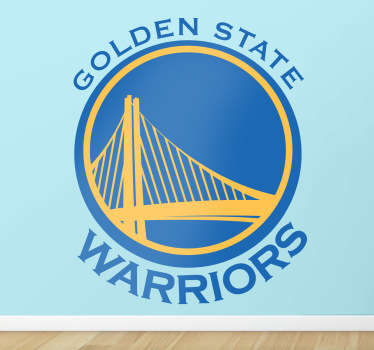 Golden state muursticker