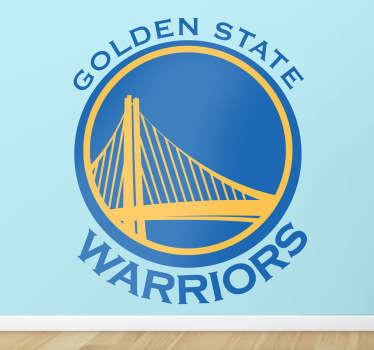Adesivo murale logo Golden State Warriors
