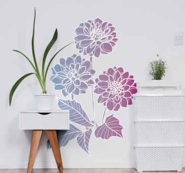 Put that simple but amazing sweet touch in your home with our flower decal. A colorful flower customisable in any required size.